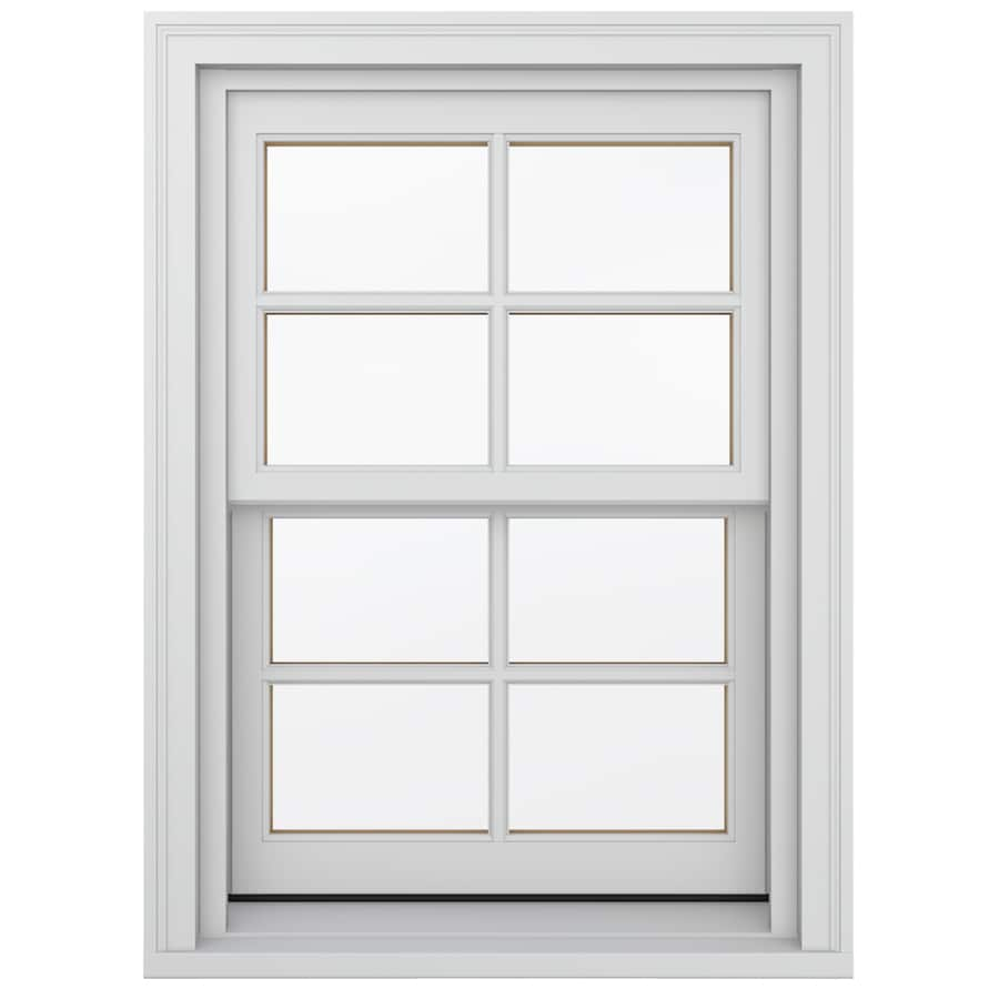 JELD-WEN Wood Double Pane Annealed New Construction Double Hung Window (Rough Opening: 26.13-in x 48.75-in; Actual: 25.38-in x 48-in)