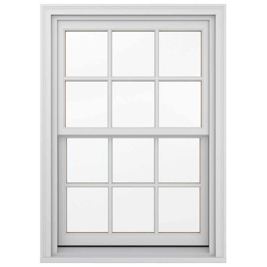 JELD-WEN Wood Double Pane Annealed Double Hung Window (Rough Opening: 34.13-in x 48.75-in; Actual: 33.38-in x 48-in)