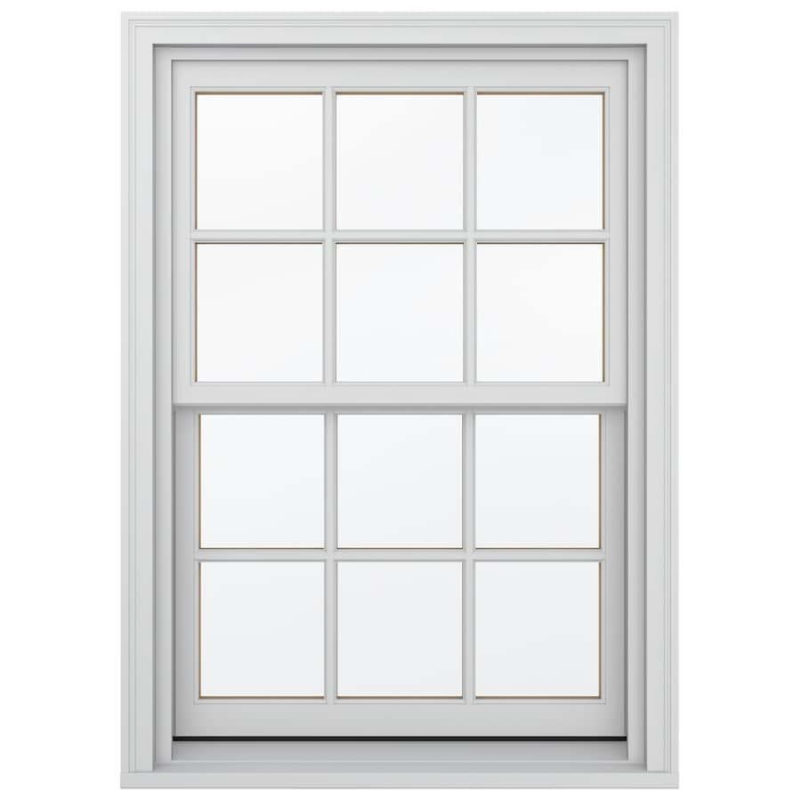 JELD-WEN Wood Double Pane Annealed Egress Double Hung Window (Rough Opening: 38.13-in x 64.75-in; Actual: 37.38-in x 64-in)