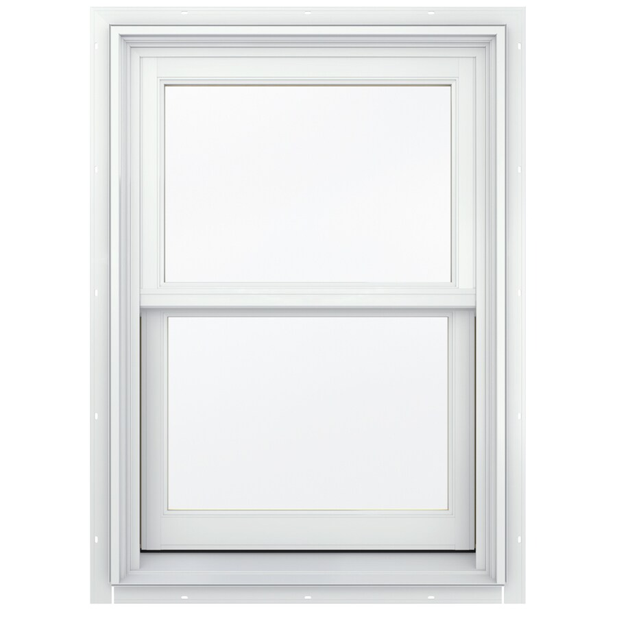JELD-WEN Aluminum-clad Double Pane Annealed New Construction Double Hung Window (Rough Opening: 26.13-in x 48.75-in; Actual: 25.38-in x 48-in)