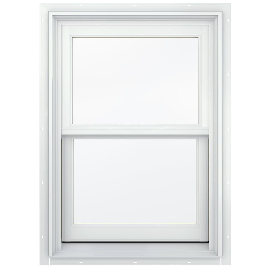 JELD-WEN Aluminum-Clad Double Pane Annealed Double Hung Window (Rough Opening: 26.13-in x 60.75-in; Actual: 25.38-in x 60-in)