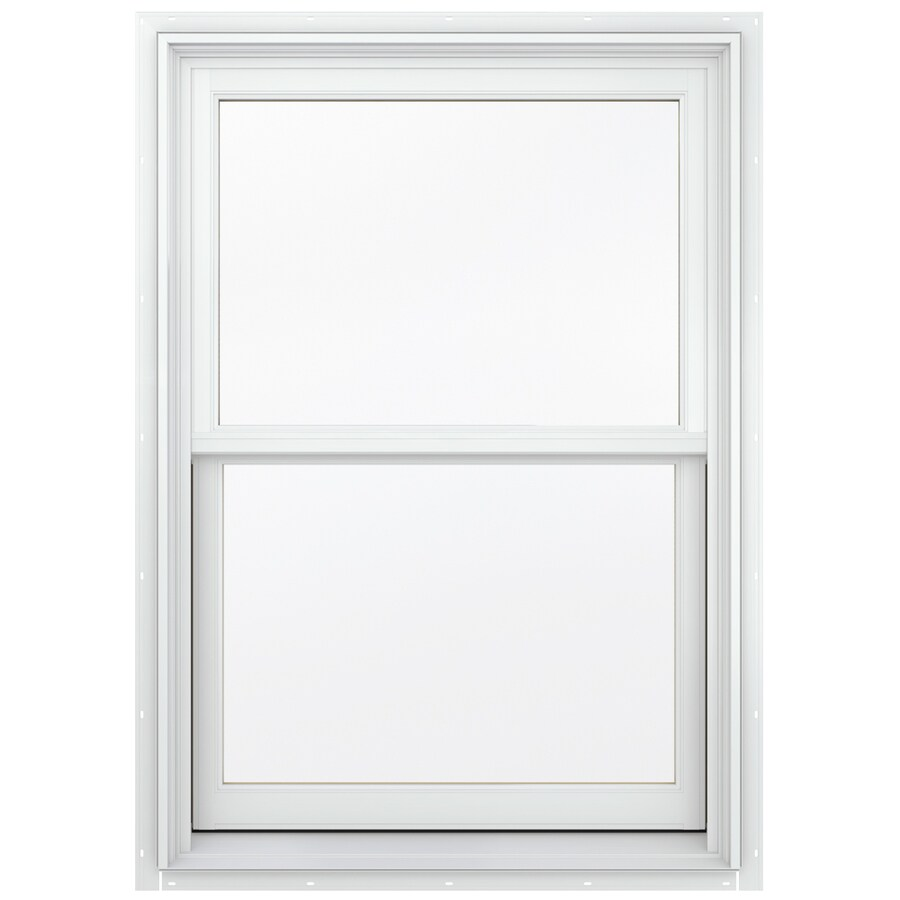 JELD-WEN Aluminum-clad Double Pane Annealed New Construction Egress Double Hung Window (Rough Opening: 38.13-in x 60.75-in; Actual: 37.38-in x 60-in)