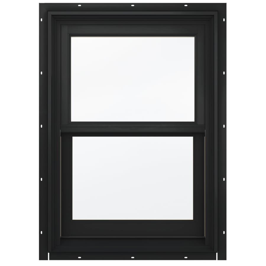 JELD-WEN Aluminum-clad Double Pane Annealed New Construction Double Hung Window (Rough Opening: 26.13-in x 36.75-in; Actual: 25.38-in x 36-in)
