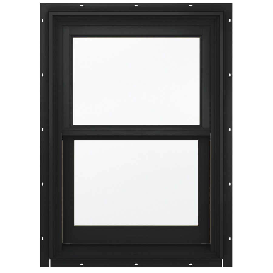 JELD-WEN Aluminum-clad Double Pane Annealed New Construction Double Hung Window (Rough Opening: 26.13-in x 60.75-in; Actual: 25.38-in x 60-in)