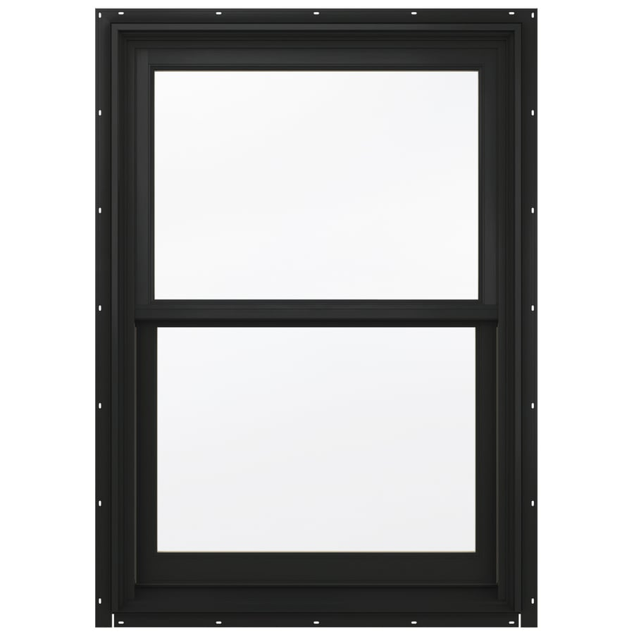JELD-WEN Aluminum-clad Double Pane Annealed New Construction Egress Double Hung Window (Rough Opening: 34.13-in x 64.75-in; Actual: 33.38-in x 64-in)
