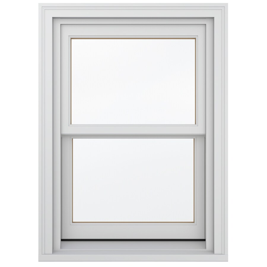 JELD-WEN Wood Double Pane Annealed New Construction Double Hung Window (Rough Opening: 26.13-in x 36.75-in; Actual: 25.38-in x 36-in)