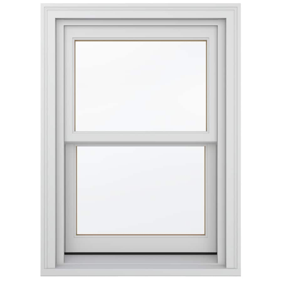 JELD-WEN Wood Double Pane Annealed New Construction Double Hung Window (Rough Opening: 26.13-in x 60.75-in; Actual: 25.38-in x 60-in)