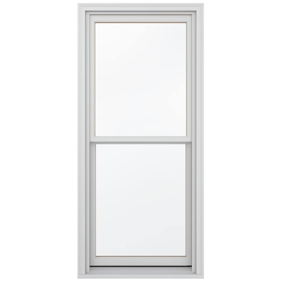 JELD-WEN Wood Double Pane Annealed New Construction Egress Double Hung Window (Rough Opening: 38.13-in x 72.75-in; Actual: 37.38-in x 72-in)