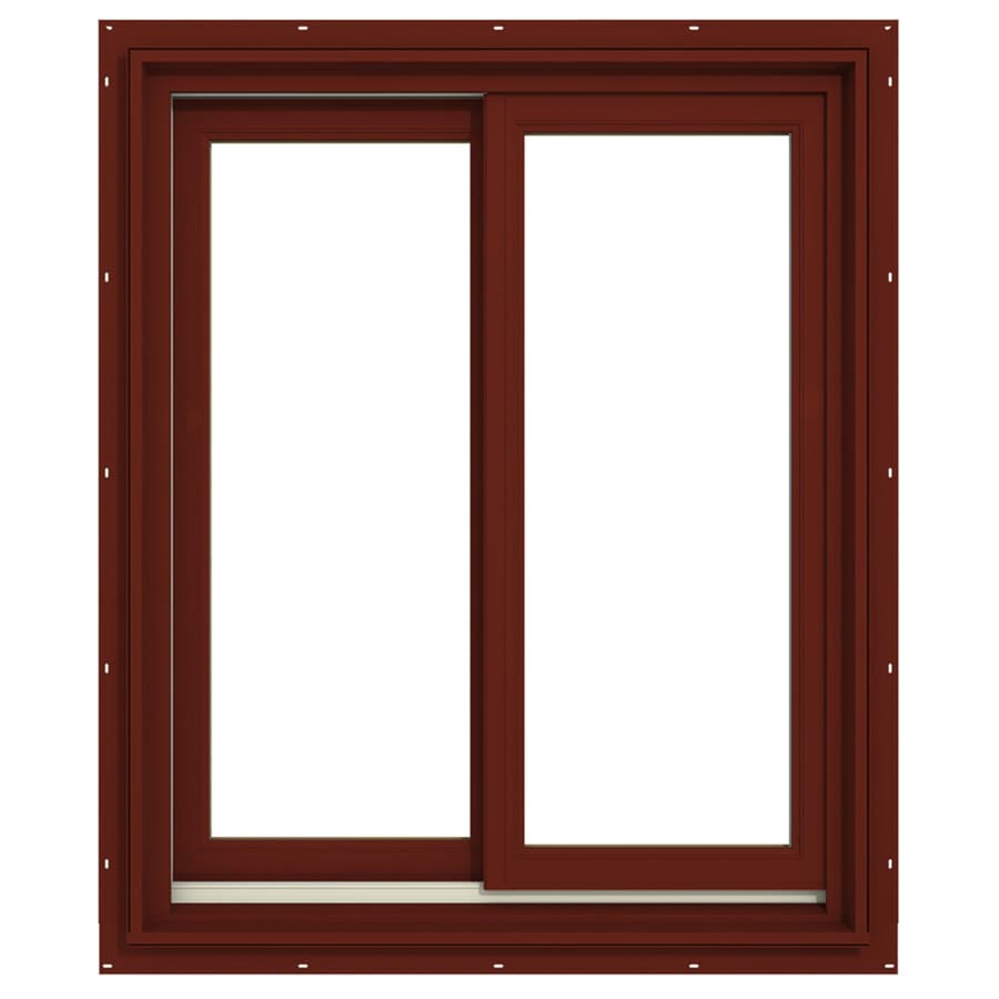 JELD-WEN Premium Both-Operable Aluminum-Clad Double Pane Annealed Sliding Window (Rough Opening: 30.063-in x 36.563-in; Actual: 29.313-in x 35.563-in)