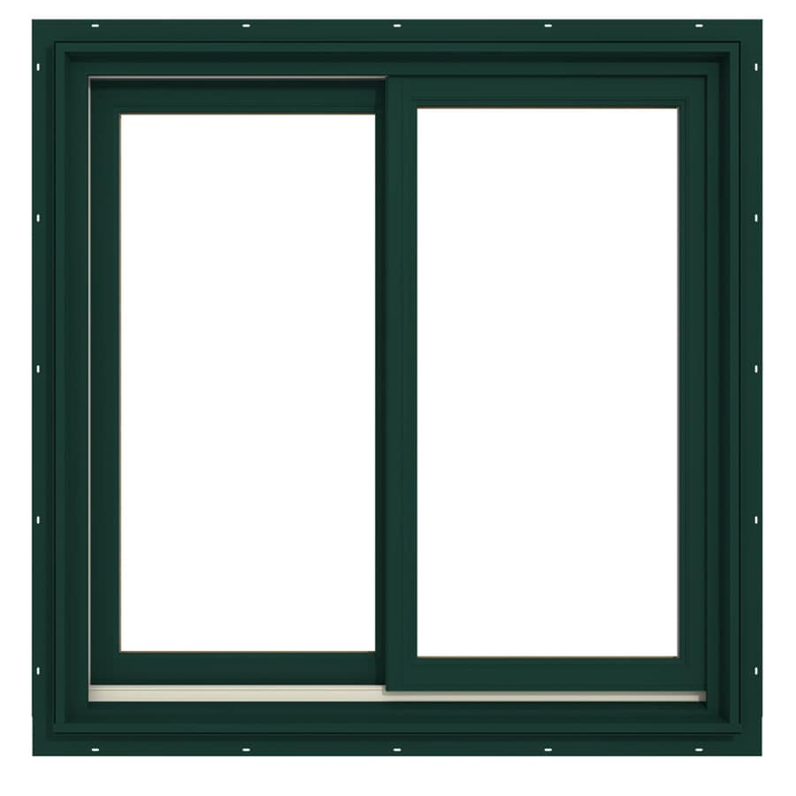 JELD-WEN Premium Both-Operable Aluminum-Clad Double Pane Annealed Sliding Window (Rough Opening: 36.063-in x 36.563-in; Actual: 35.313-in x 35.563-in)