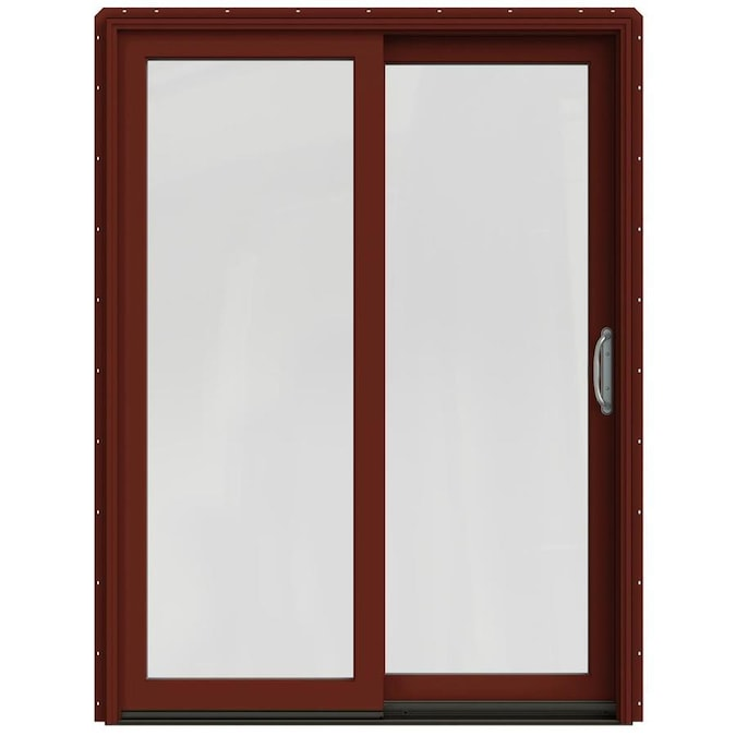 JELD-WEN Clear Glass Mesa Red Clad-Wood Right-hand Double