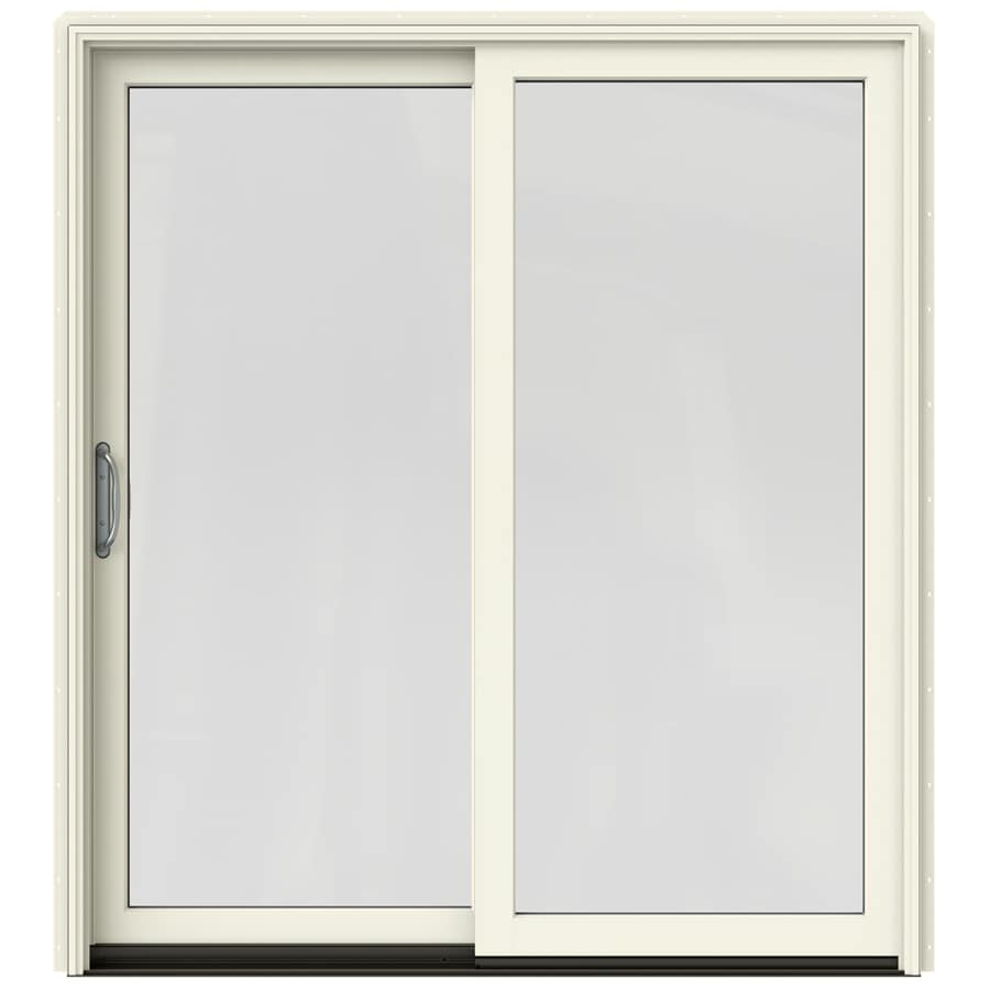 Shop jeld wen w 2500 1 lite glass french vanilla for Sliding glass doors jeld wen