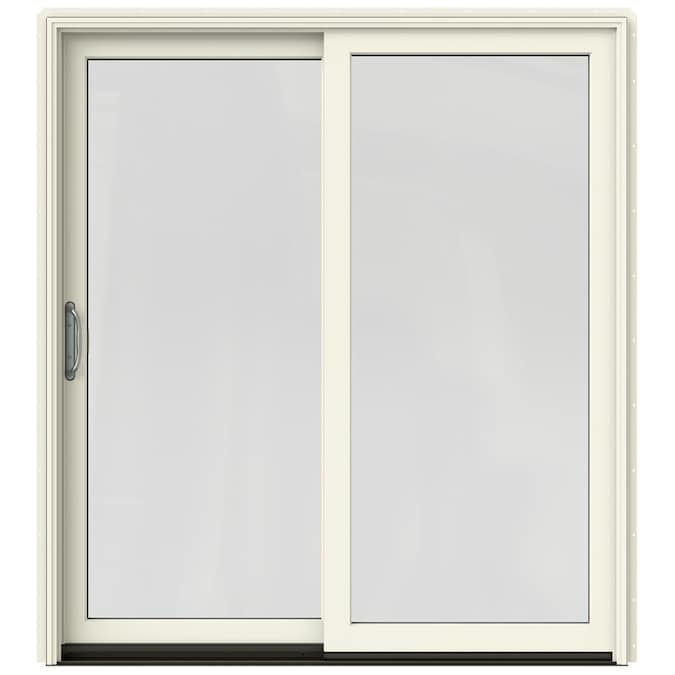 JELD-WEN Sliding Clear Glass French Vanilla Clad-Wood Left