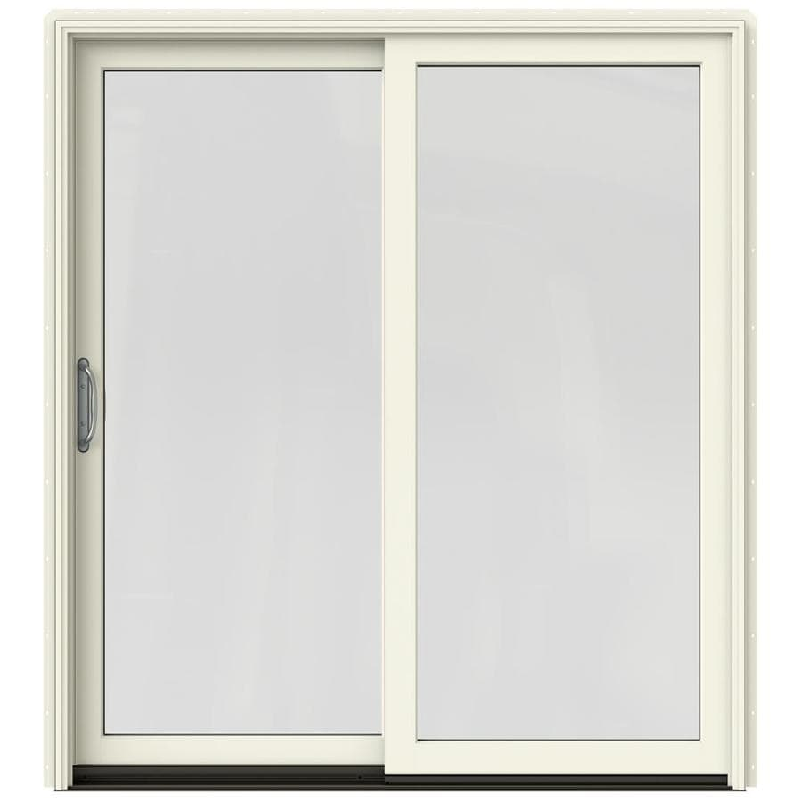 Shop jeld wen w 2500 1 lite glass french vanilla for Wooden sliding french doors