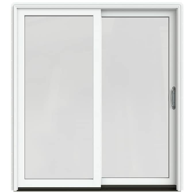 JELD-WEN Sliding Clear Glass Brilliant White Clad-Wood
