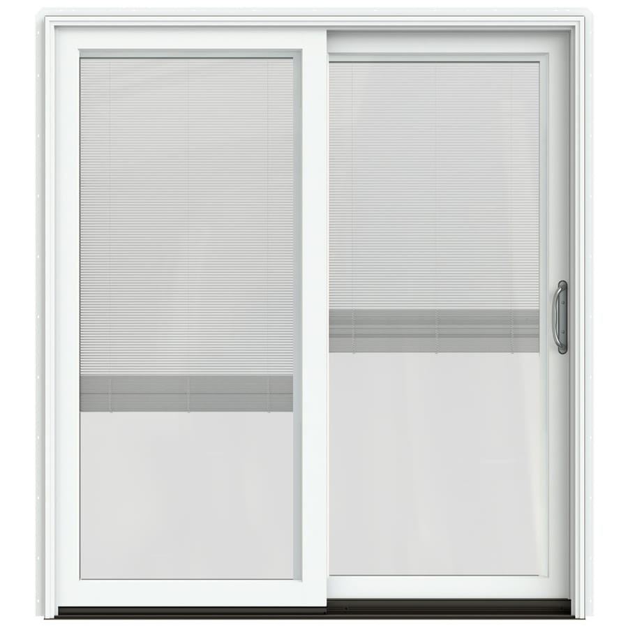 Shop JELD WEN W 2500 Blinds Between The Glass Brilliant White Wood S