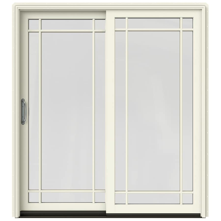 Shop jeld wen w 2500 grid glass french vanilla for Sliding glass doors jeld wen
