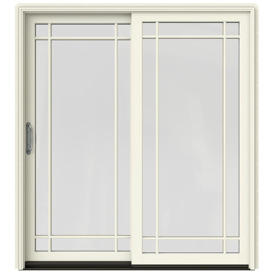 JELD-WEN W-2500 71.25-in x 79.5-in Left-Hand Sliding Patio Door with Screen