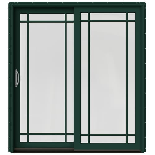 JELD-WEN Simulated Divided Light Hartford Green Clad-Wood