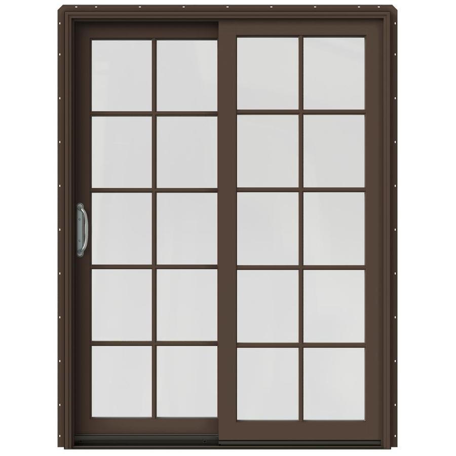 JELD-WEN W-2500 59.25-in x 79.5-in Left-Hand Sliding Patio Door with Screen