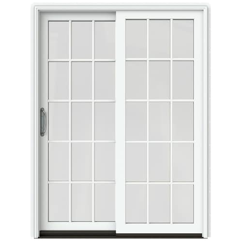 JELD-WEN Simulated Divided Light White Clad-Wood Left-Hand