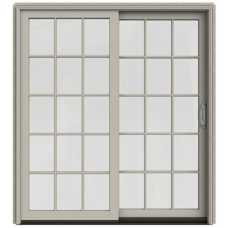 Shop jeld wen w 2500 x 79 5 in right hand sliding for Sliding glass doors jeld wen