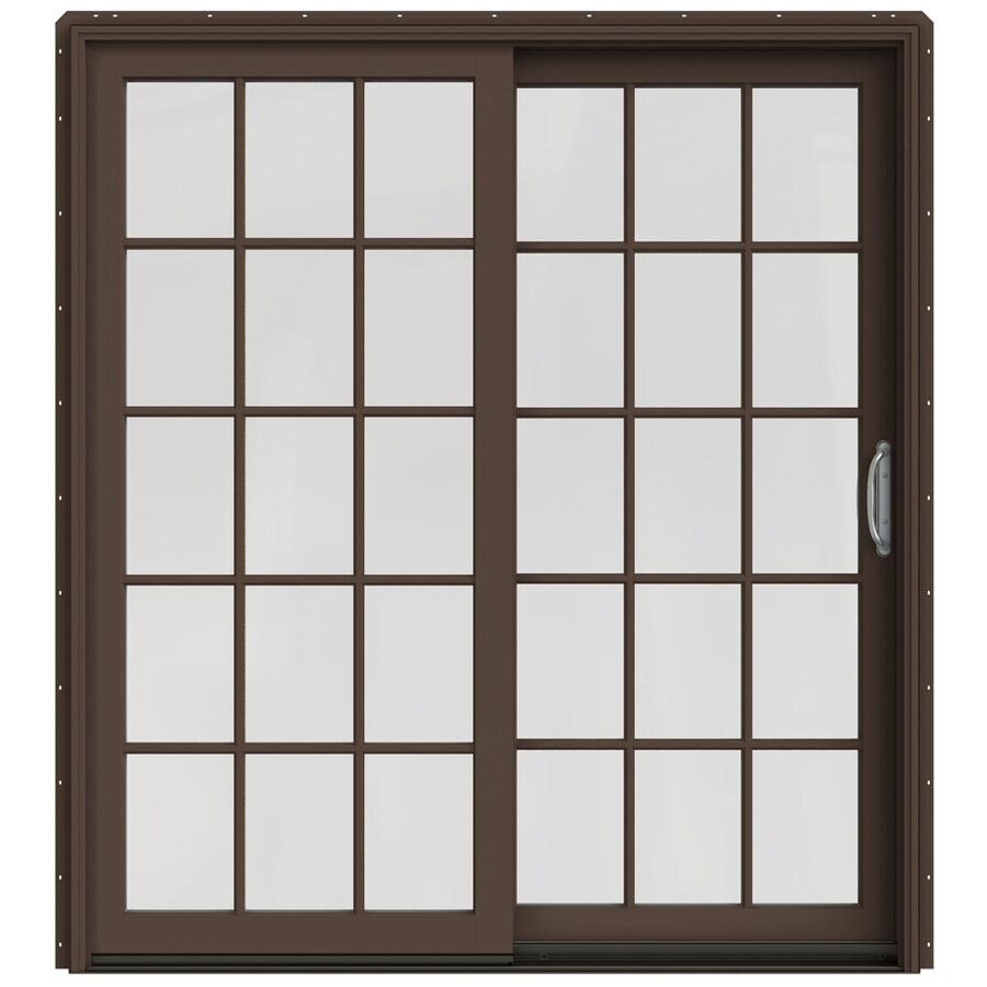 JELD-WEN W-2500 71.25-in x 79.5-in Right-Hand Sliding Patio Door with Screen