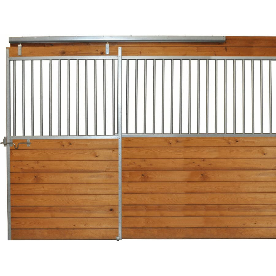 Country Manufacturing 10-ft x 7-ft Galvanized Steel Fixed Front Door Horse Stall