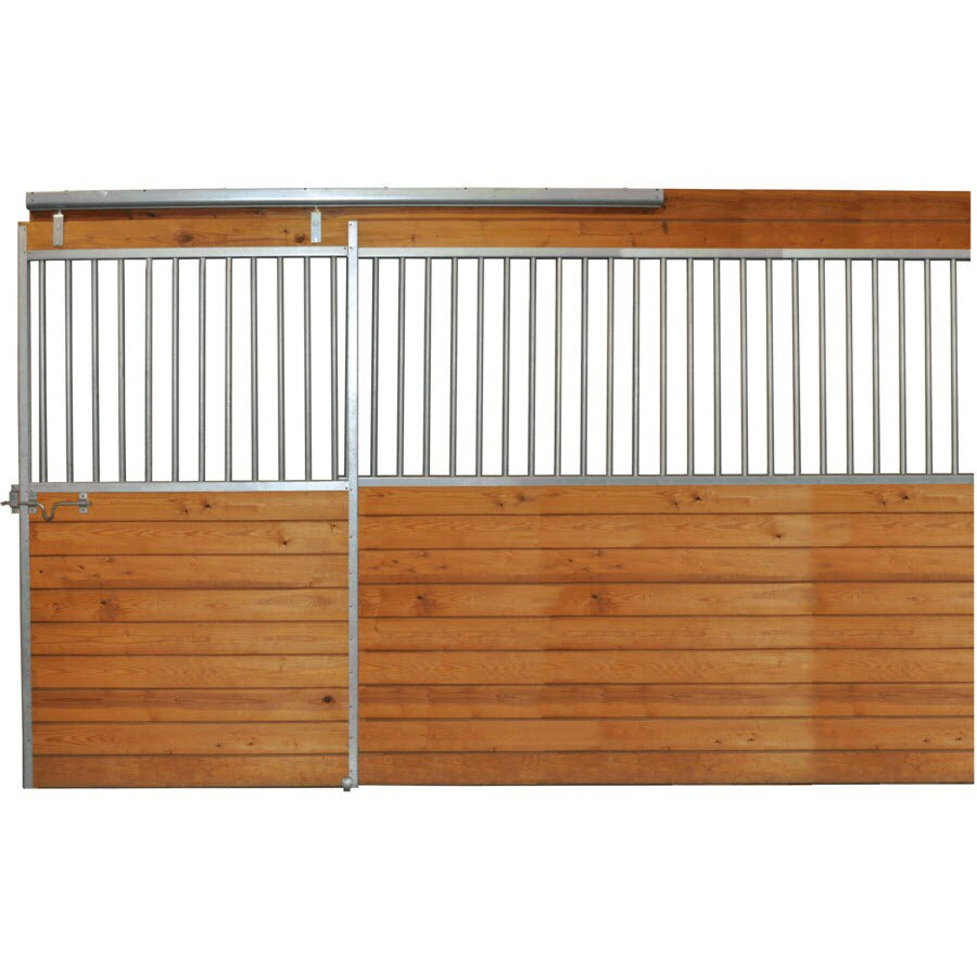 Country Manufacturing 12-ft x 7-ft Galvanized Steel Fixed Front Door Horse Stall