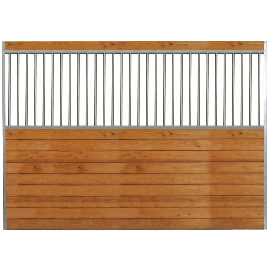 Country Manufacturing 10-ft x 7-ft Galvanized Steel Fixed Side Wall Horse Stall