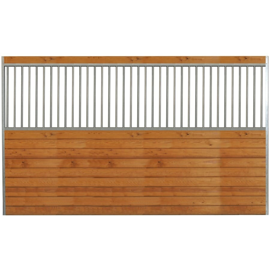 Country Manufacturing 12-ft x 7-ft Galvanized Steel Fixed Side Wall Horse Stall