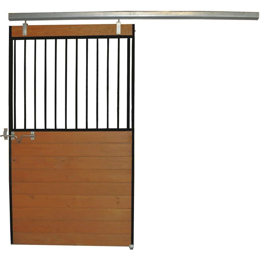 Country Manufacturing 4-ft x 7-ft Steel Fixed Door Horse Stall