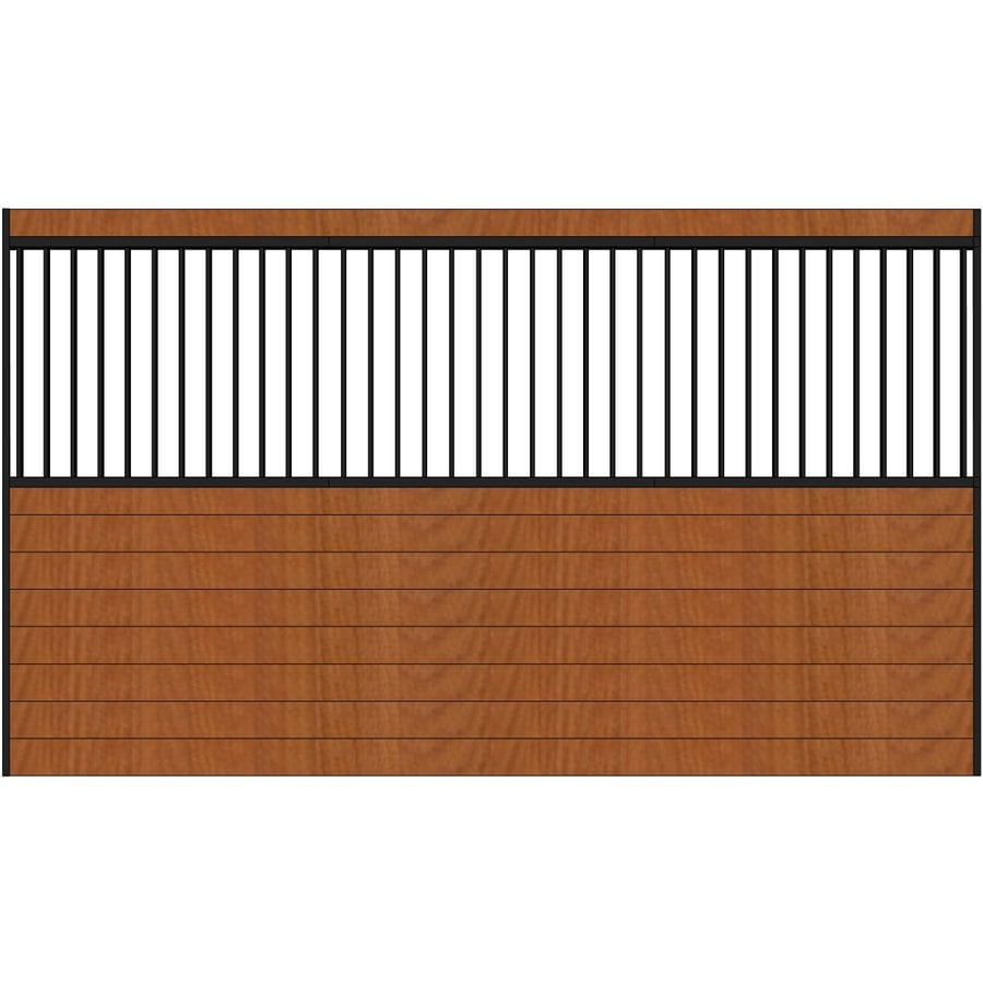 Country Manufacturing 12-ft x 7-ft Steel Fixed Side Wall Horse Stall
