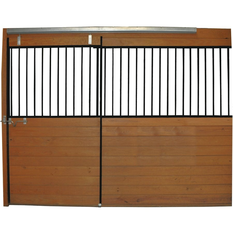 Country Manufacturing 10-ft x 7-ft Steel Fixed Front Door Horse Stall