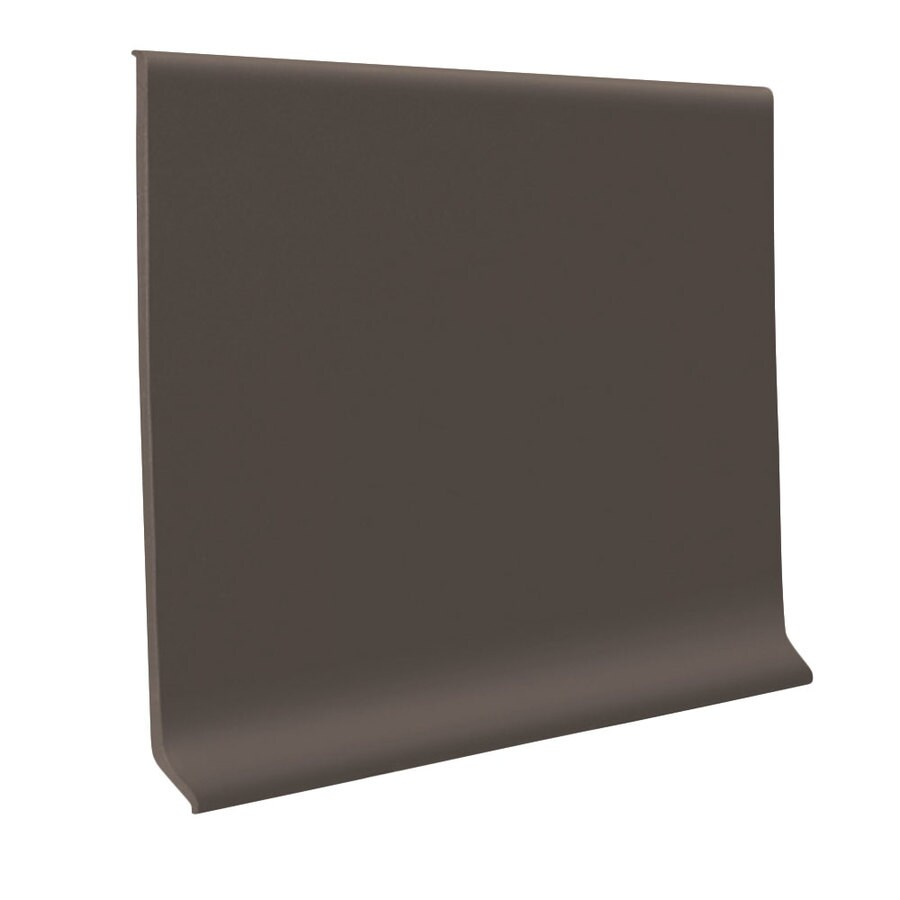 FLEXCO 30-Pack 4-in W x 4-ft L Bark Thermoplastic Rubber Wall Base