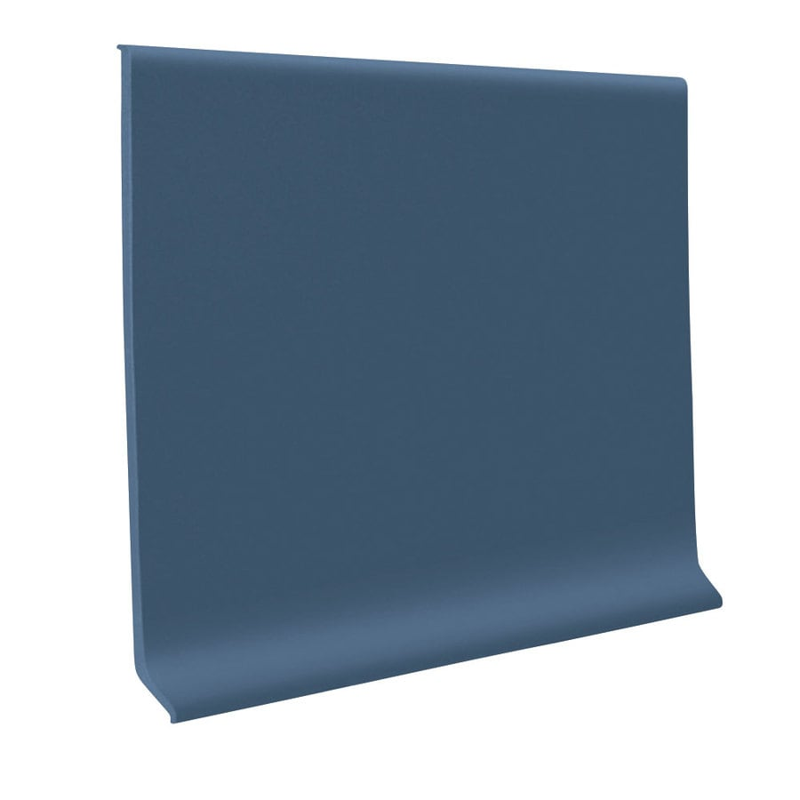 FLEXCO 30-Pack 4-in W x 4-ft L Blue Thermoplastic Rubber Standard Wall Base