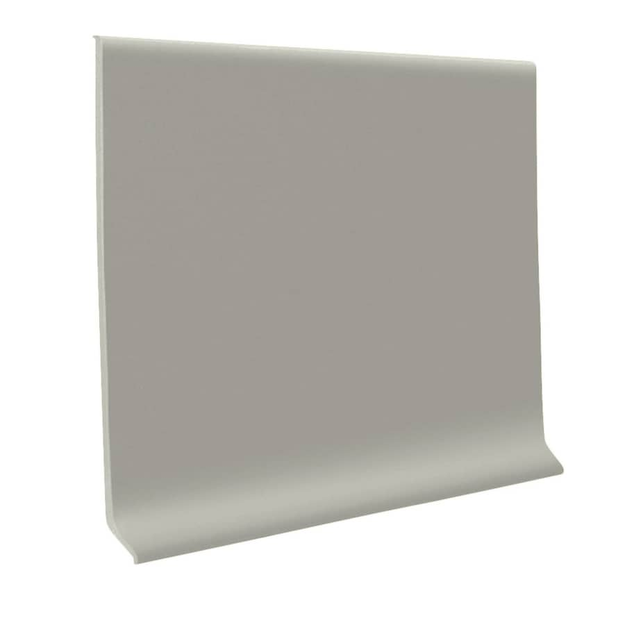 FLEXCO 30-Pack 4-in W x 4-ft L Light Gray Thermoplastic Rubber Wall Base