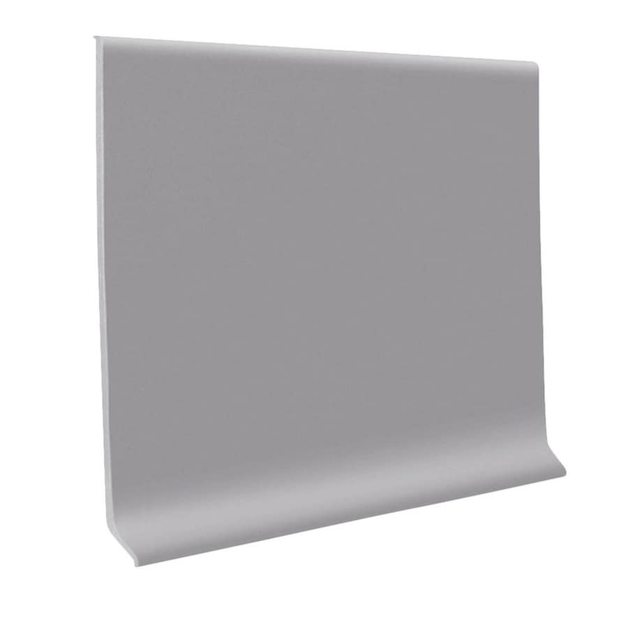 FLEXCO 30-Pack 4-in W x 4-ft L Gray Thermoplastic Rubber Wall Base