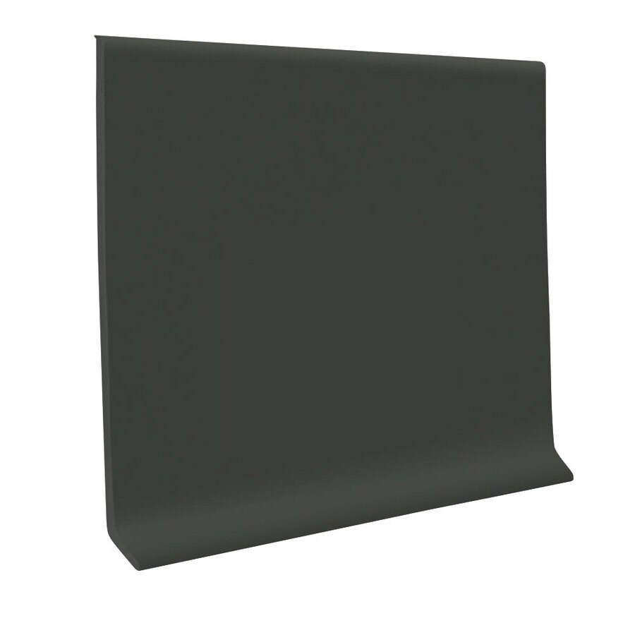 FLEXCO 30-Pack 4-in W x 4-ft L Black/Brown Thermoplastic Rubber Wall Base