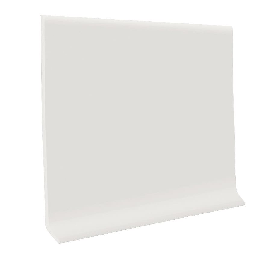 FLEXCO 30-Pack 4-in W x 4-ft L True White Thermoplastic Rubber Wall Base