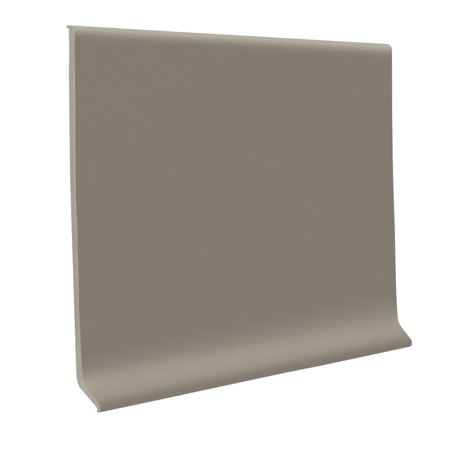 FLEXCO 30-Pack 4-in W x 4-ft L Stone Thermoplastic Rubber Wall Base