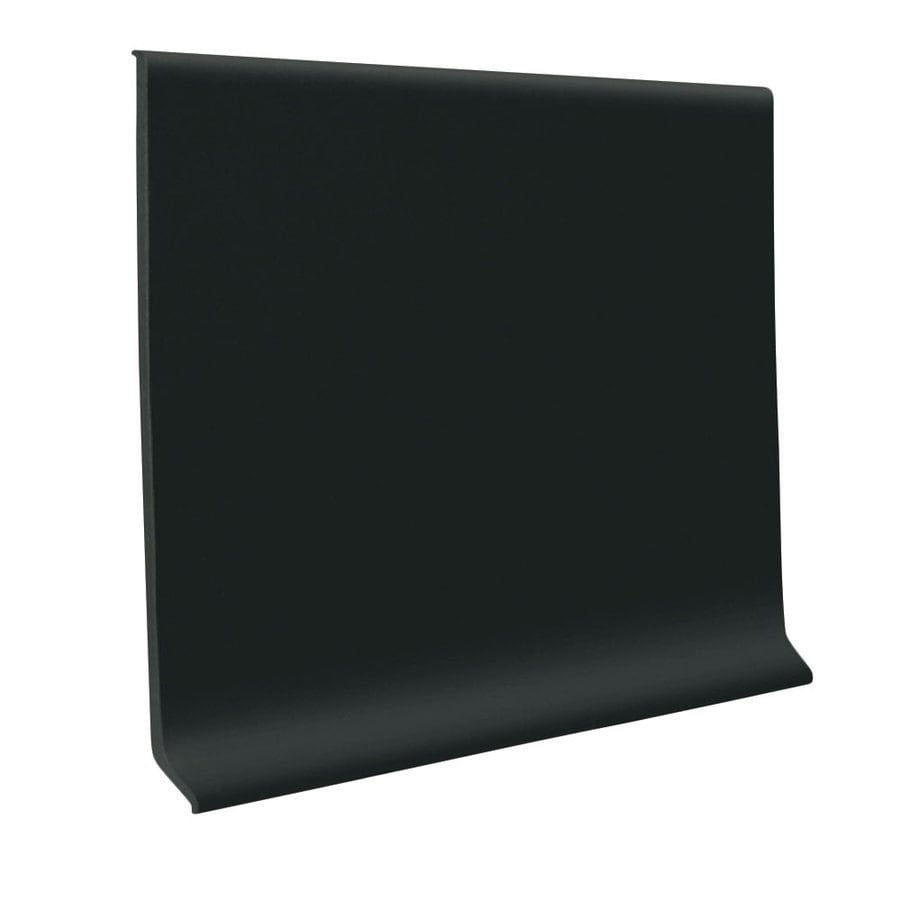 FLEXCO 30-Pack 2.5-in W x 4-ft L Black Dahlia Thermoplastic Rubber Wall Base
