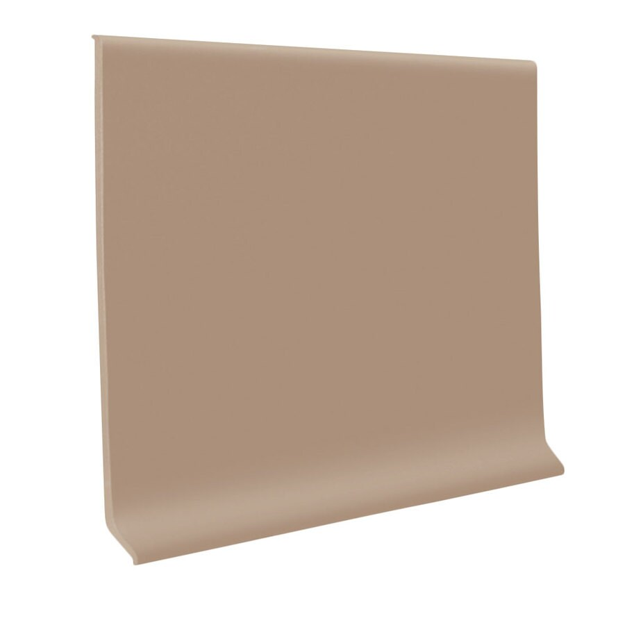 FLEXCO 30-Pack 2.5-in W x 4-ft L Cappuccino Thermoplastic Rubber Wall Base