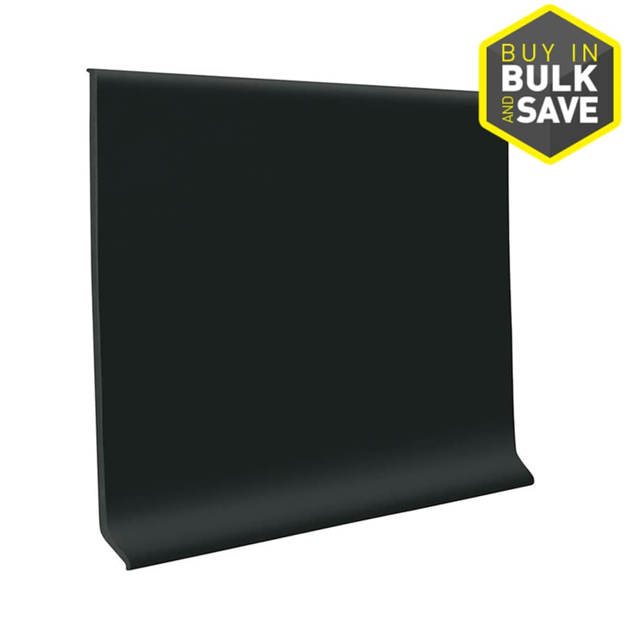 FLEXCO 4-in W x 4-ft L Black Dahlia Thermoplastic Rubber Standard Wall Base