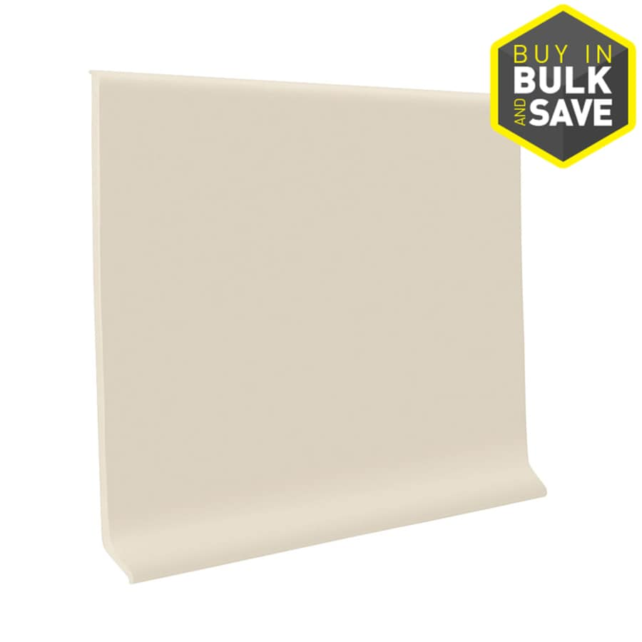 FLEXCO 4-in W x 4-ft L Almond Thermoplastic Rubber Standard Wall Base
