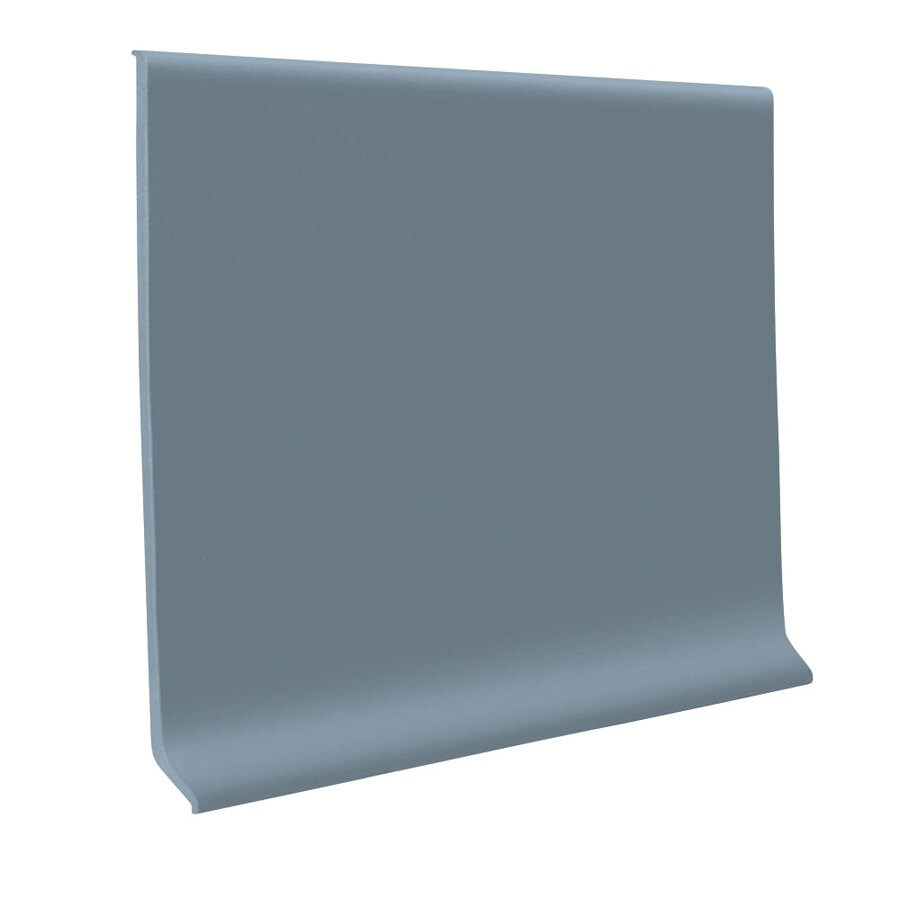 FLEXCO 4-in W x 50-ft L Blue Shadow Flexco Vinyl Wall Base TPR