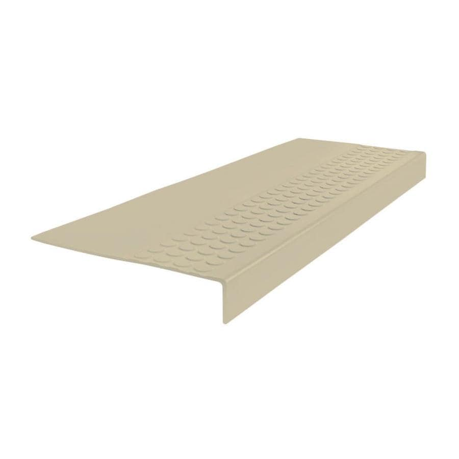 FLEXCO 12-in x 42-in Almond Rubber Square Nose Stair Treads