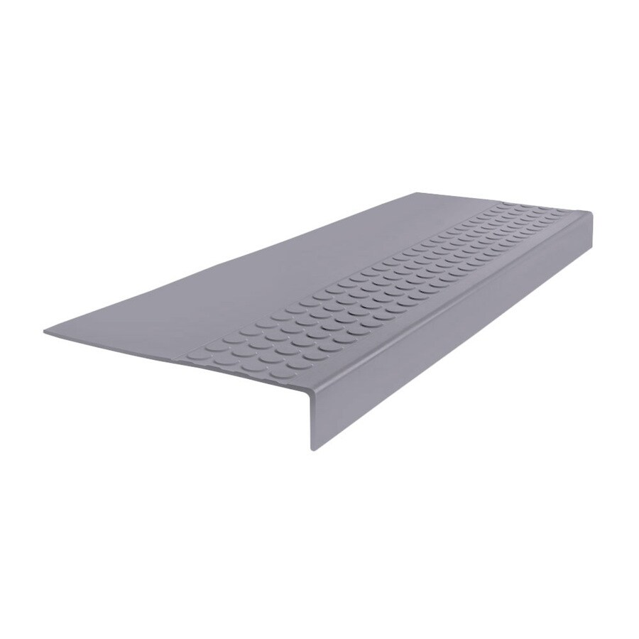 FLEXCO 12-in x 54-in Gray Rubber Square Nose Stair Treads
