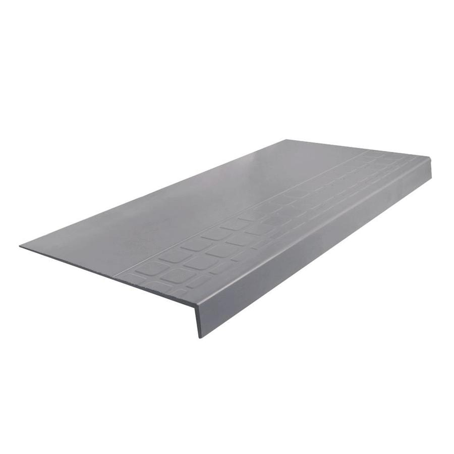 "FLEXCO FLEXCO Rubber Stair Tread Square Design Square Nose #800 36""x.25""x12.25"""