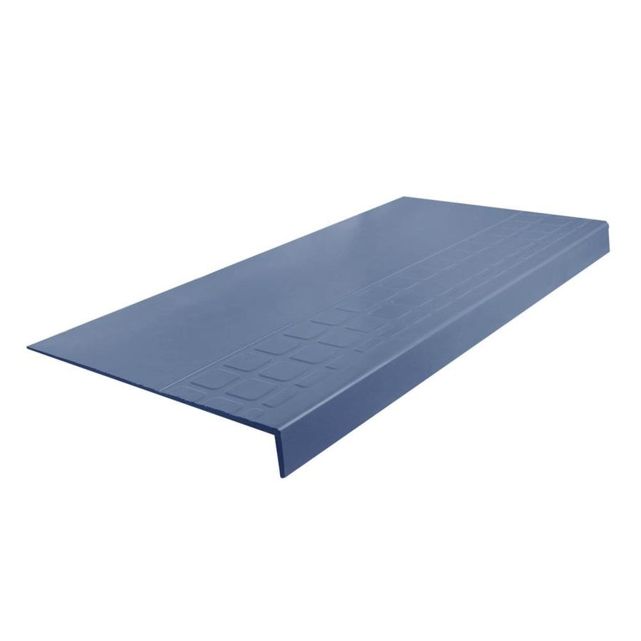 FLEXCO 12.25-in x 48-in Blue Rubber Square Nose Stair Treads